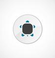 Turtle icon 2 colored vector