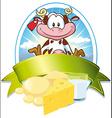 Milk label vector