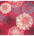 Hand-drawn flowers of dahlia vector