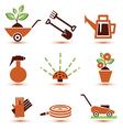 Garden tools icons set vector