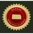 Star label kansas vector