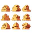 Alphabet made of stone symbols vector