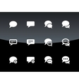 Message bubble icons on black background vector