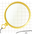 Monocle on a plaid background vector