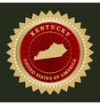 Star label kentucky vector
