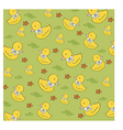 Seamless background with rubber duck vector