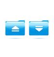 Blue folder download vector