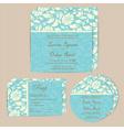 Wedding cards set blue vector