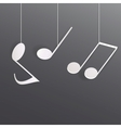 Abstract musical background vector