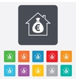 Mortgage sign icon real estate symbol vector