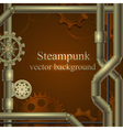Retro background with gears steampunk vector
