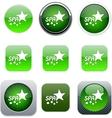 Spa green app icons vector