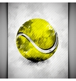 Tennis ball watercolor vector