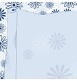 Daisies blue background vector