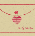 Valentine day letter hearts vector
