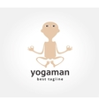 Abstract yoga man logo icon concept logotype vector