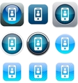 Person blue app icons vector