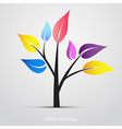 Abstract creative colorful tree vector