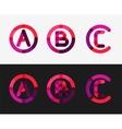 Minimal line design logo set vector
