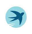 Swallow bird silhouette logo vector