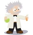 Funny cartoon scientist vector