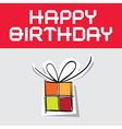 Happy birthday with paper gift box vector