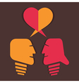 Dating or relationship concept vector