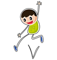 A boy jumping vector