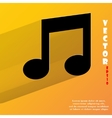 Music note flat modern web button with long shadow vector