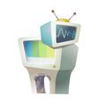 Icon television vector