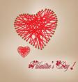 Valentine day knitting wool heart vector