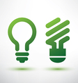 Green eco light bulb icons set low energy concept vector