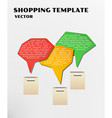 Color shopping template vector