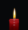 Advent candle red 22 vector