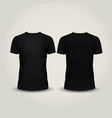 Black men t-shirt isolated vector