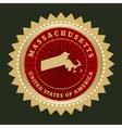 Star label massachusetts vector