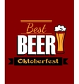 German best beer banner vector