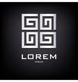 Geometrical silver logo design vector