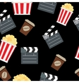 Cinema seamless pattern background vector