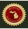 Star label michigan vector