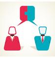 Couple communication concept vector