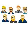 Different cartoon men vector