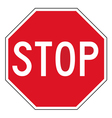 Stop sign vector