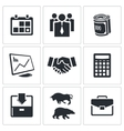 Financial exchange icon collection vector