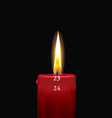 Advent candle red 23 vector
