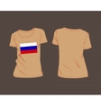 T-shirt with the flag of russia vector