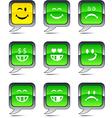 Smiley balloon icons vector