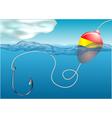 Fishing float vector