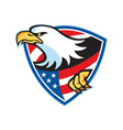 American bald eagle flag shield vector