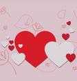 Valentine gift hearts vector